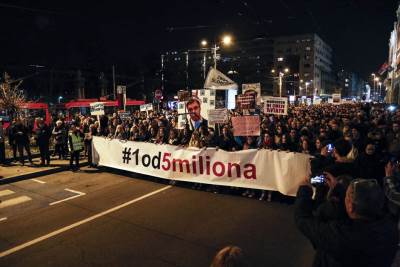 protest opozicije, 1 od 5 miliona, opozicija