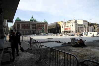 trg republike, radovi, popločan, rekonstrukcija