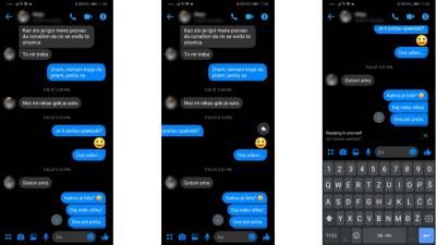 Messenger Swipe odgovor na poruke