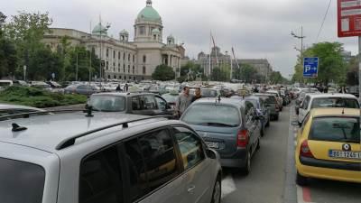protest taksisti taksi