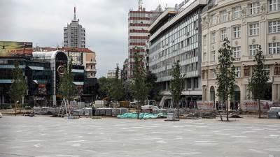 trg republike drveće, rekonstrukcija