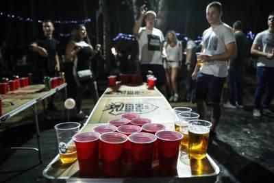 beer pong, bir pong, pivo, igre, beer garden