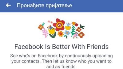 Iskljucite Facebook sinhronizaciju kontakata, FB, Kontakti, Face, Fejs